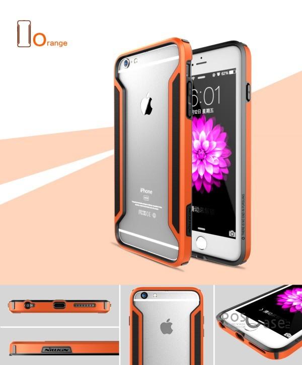 Бампер Nillkin Armor-Border Series для Apple iPhone 6/6s plus (5.5) (Оранжевый)Описание:производитель  - &amp;nbsp;Nillkin;совместим с Apple iPhone 6/6s plus (5.5);материал  -  пластик;форма  -  бампер.&amp;nbsp;Особенности:тонкий;имеет все необходимые вырезы;прочный;не увеличивает габариты;защищает от ударов и падений;вставка &amp;laquo;анти-шок&amp;raquo;.<br><br>Тип: Чехол<br>Бренд: Nillkin<br>Материал: Пластик