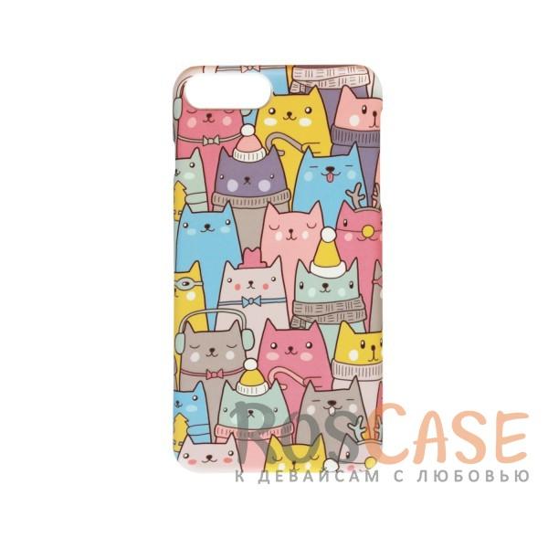 "Фото Пластиковая накладка Cats Series для Apple iPhone 7 plus / 8 plus (5.5"")"