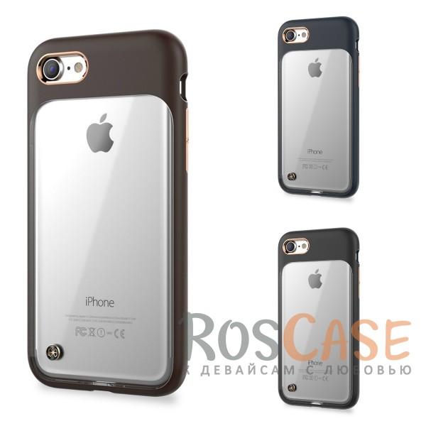 TPU+PC чехол STIL Monokini Series для Apple iPhone 7 (4.7)Описание:создан компанией&amp;nbsp;STIL;разработан с учетом особенностей&amp;nbsp;Apple iPhone 7 (4.7);материалы - термополиуретан, поликарбонат;тип - накладка.Особенности:сочетание прозрачного и матового материалов;золотистая окантовка вокруг камеры и кнопок;доступ ко всем функциям гаджета благодаря точным вырезам;защита от царапин и ударов;защита экрана благодаря выступающим бортикам;размеры - 145*74*10 мм, 36&amp;nbsp;гр.<br><br>Тип: Чехол<br>Бренд: Stil<br>Материал: Поликарбонат