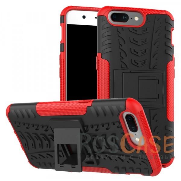 Противоударный двухслойный чехол Shield для OnePlus 5 с подставкой (Красный)Описание:совместим с OnePlus 5;удобная функция подставки;материал - поликарбонат, термополиуретан;тип - накладка;ударопрочная конструкция;предусмотрены все необходимые вырезы;рельефная фактура.<br><br>Тип: Чехол<br>Бренд: Epik<br>Материал: TPU