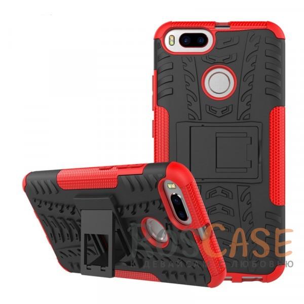 Противоударный двухслойный чехол Shield для Xiaomi Mi 5X / Mi A1 с подставкой (Красный)Описание:совместим с Xiaomi Mi 5X / Mi A1;удобная функция подставки;материал - поликарбонат, термополиуретан;тип - накладка;ударопрочная конструкция;предусмотрены все необходимые вырезы;рельефная фактура.<br><br>Тип: Чехол<br>Бренд: Epik<br>Материал: TPU