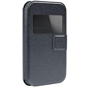 """Универсальный чехол-книжка с окошком и магнитом Gresso """"Норман"""" для смартфона 4.9-5.2 дюйма"""