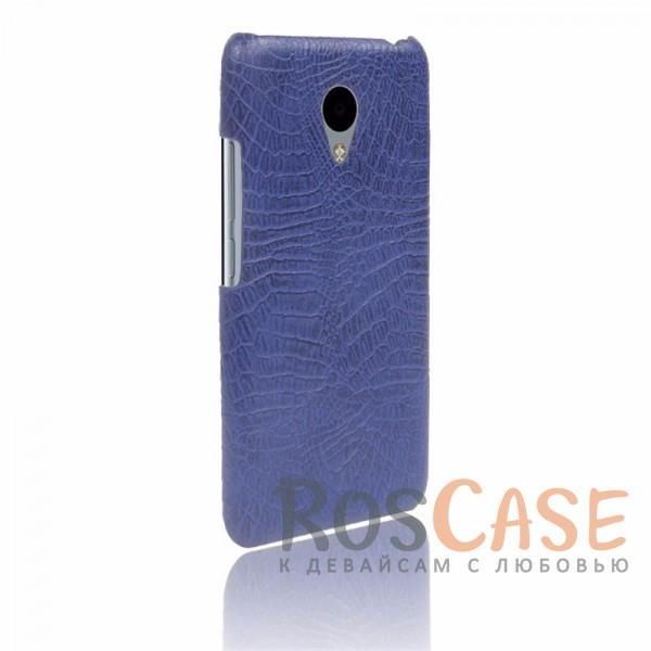 Кожаный чехол с узором из крокодиловой кожи Croc Series для Meizu M3 / M3 mini / M3s (Синий)<br><br>Тип: Чехол<br>Бренд: Epik<br>Материал: Искусственная кожа
