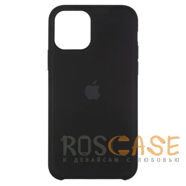 Фото Черный Силиконовый чехол Silicone Case с микрофиброй для iPhone 11 Pro