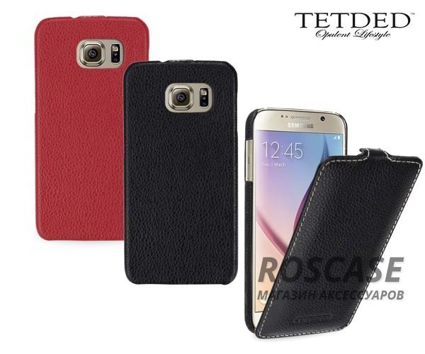 Кожаный чехол (флип) TETDED для Samsung Galaxy S6 G920F/G920D DuosОписание:производитель - бренд&amp;nbsp;Tetdedизготовлен для Samsung Galaxy S6 G920F/G920D Duos;материал  -  натуральная кожа;тип - флип (вниз).&amp;nbsp;Особенности:элегантный дизайн;не скользит в руках;защищает смартфон со всех сторон;легко устанавливается и снимается.<br><br>Тип: Чехол<br>Бренд: TETDED<br>Материал: Натуральная кожа