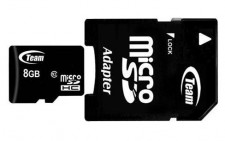 фото Карта памяти Team microSDHC 8 GB Card Class 10 + SD adapter