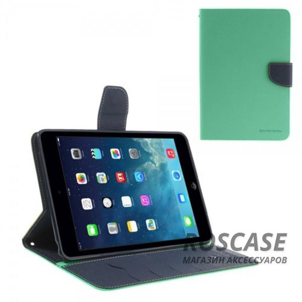Чехол (книжка) Mercury Fancy Diary series для iPad Mini / iPad Mini Retina/ iPad mini 3 (Бирюзовый / Синий)Описание:производитель  -  бренд&amp;nbsp;Mercury;совместим с iPad Mini / iPad Mini Retina/ ipad mini 3;материалы  -  искусственная кожа, термополиуретан;форма  -  чехол-книжка.&amp;nbsp;Особенности:рельефная поверхность;все функциональные вырезы в наличии;внутренние кармашки;магнитная застежка;защита от механических повреждений;трансформируется в подставку.<br><br>Тип: Чехол<br>Бренд: Mercury<br>Материал: Искусственная кожа