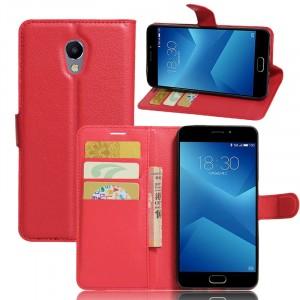 Wallet | Кожаный чехол-кошелек с внутренними карманами для Meizu M5 Note
