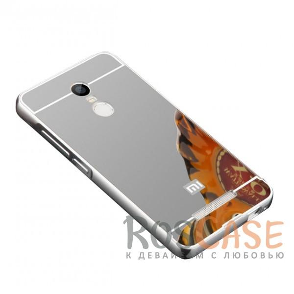 Защитный металлический бампер с зеркальной вставкой для Xiaomi Redmi 5 (Серебряный)Описание:разработан для Xiaomi Redmi 5;материалы - металл, акрил;тип - бампер с задней панелью;зеркальная поверхность;металлический бампер;защита от царапин и ударов.<br><br>Тип: Чехол<br>Бренд: Epik<br>Материал: Металл