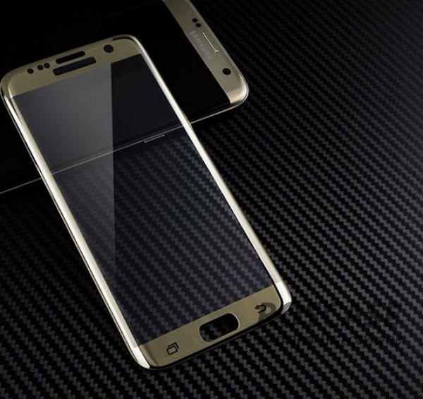 Противоударное закаленное стекло 0.2mm с защитой на весь экран Samsung G935F Galaxy S7 Edge (2.5D) (Золотой)Описание:идеально подходит для Samsung G935F Galaxy S7 Edge;материал: закаленное стекло;тип: стекло на экран.&amp;nbsp;Особенности:закругленные грани 2.5D;ультратонкое  -  0,2 мм;прочность  -  9H;закрывает весь экран, в том числе боковые закругления;ударопрочное;олеофобное покрытие;цветная окантовка;защищает от царапин.<br><br>Тип: Защитное стекло<br>Бренд: Epik