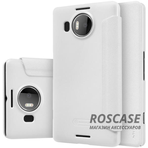 Кожаный чехол (книжка) Nillkin Sparkle Series для Microsoft lumia 950 XL (Белый)Описание:бренд&amp;nbsp;Nillkin;разработан для Microsoft lumia 950 XL;материал: искусственная кожа, поликарбонат;тип: чехол-книжка.Особенности:не скользит в руках;защита от механических повреждений;не выгорает;блестящая поверхность;надежная фиксация.<br><br>Тип: Чехол<br>Бренд: Nillkin<br>Материал: Искусственная кожа