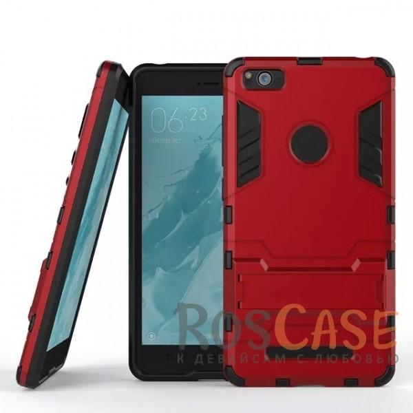 Ударопрочный чехол-подставка Transformer для Xiaomi Mi 4i / Mi 4c с мощной защитой корпуса (Красный / Dante Red)Описание:подходит для Xiaomi Mi 4i / Mi 4c;материалы: термополиуретан, поликарбонат;формат: накладка.&amp;nbsp;Особенности:функциональные вырезы;функция подставки;двойная степень защиты;защита от механических повреждений;не скользит в руках.<br><br>Тип: Чехол<br>Бренд: Epik<br>Материал: TPU