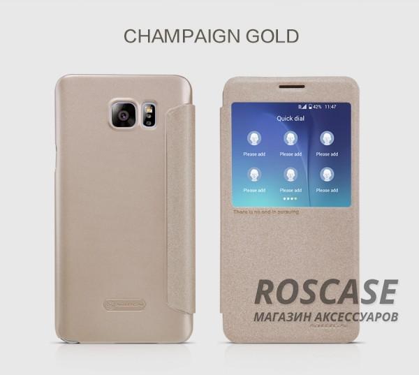 Кожаный чехол (книжка) Nillkin Sparkle Series для Samsung Galaxy Note 5 (Золотой)Описание:бренд -&amp;nbsp;Nillkin;совместим с Samsung Galaxy Note 5;материал - кожзам;тип: книжка.&amp;nbsp;Особенности:функция Sleep mode;окошко в обложке;блестящая поверхность;защита со всех сторон.<br><br>Тип: Чехол<br>Бренд: Nillkin<br>Материал: Искусственная кожа