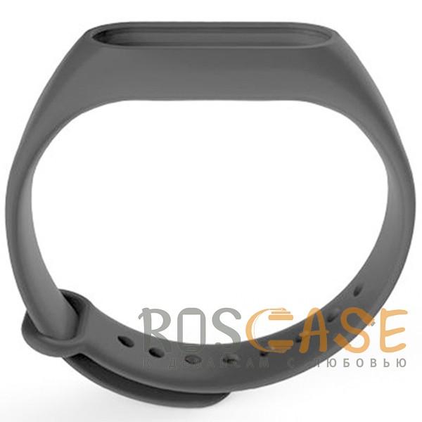 Изображение Черный Одноцветный силиконовый ремешок для фитнес-браслета Xiaomi Mi Band 2