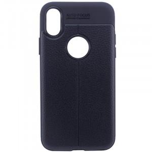 """Cиликоновый чехол для Apple iPhone X (5.8"""")/XS (5.8"""") с имитацией кожи"""