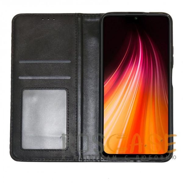 Изображение Черный Business Wallet   Кожаный чехол книжка с визитницей для Huawei Y8P / P Smart S