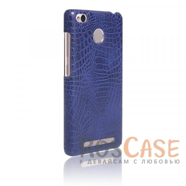 Кожаный чехол с узором из крокодиловой кожи Croc Series для Xiaomi Redmi 3 Pro / Redmi 3s (Синий)<br><br>Тип: Чехол<br>Бренд: Epik<br>Материал: Искусственная кожа