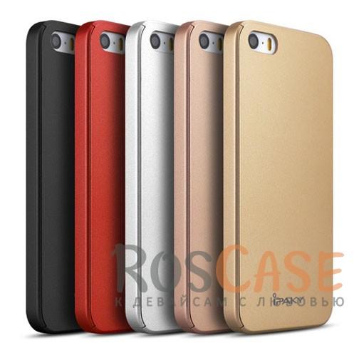 Чехол iPaky 360 градусов для Apple iPhone 5/5S/SE (+ стекло на экран)Описание:бренд iPaky;разработан для Apple iPhone 5/5S/SE;материал: пластик;тип: накладка со стеклом.Особенности:тонкий дизайн;защита экрана;функциональные вырезы;защищает от механических повреждений;матовый.<br><br>Тип: Чехол<br>Бренд: Epik<br>Материал: Пластик