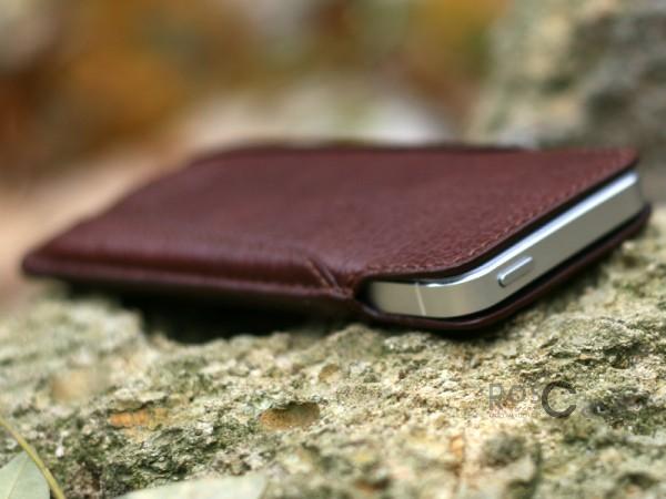 Фото Коричневый Кожаный футляр Casta Premium 127 x 62 x 11 для Apple iPhone 5/5S/SE