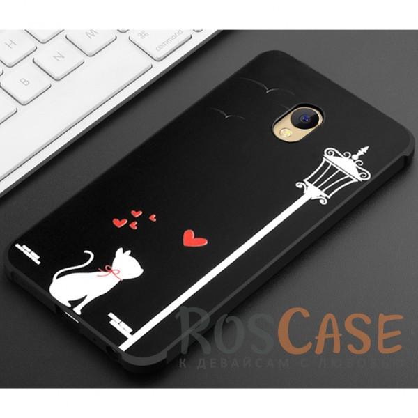 Фотография Влюбленная кошка Противоударный силиконовый чехол для Meizu M5
