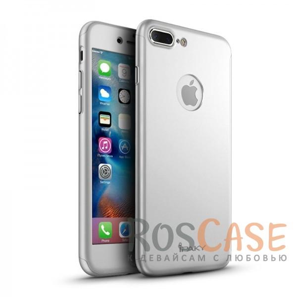 Чехол iPaky 360 градусов для Apple iPhone 7 plus (5.5) (+ стекло на экран) (Серебряный)Описание:производитель: iPaky;совместим с Apple iPhone 7 plus (5.5);материалы для изготовления: поликарбонат и каленое стекло;форм-фактор: накладка.Особенности:надежная защита: чехол, бампер, стекло;высокий уровень износостойкости и прочности;ультратонкий, не увеличивает визуально объем;легко фиксируется;легко очищается.<br><br>Тип: Чехол<br>Бренд: Epik<br>Материал: Пластик