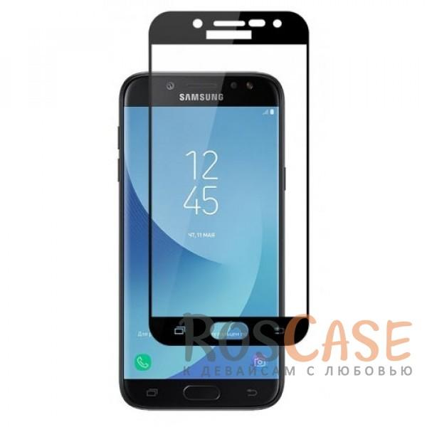 Изображение Черный Silk Screen   Защитное стекло 2,5D для Samsung J330 Galaxy J3 (2017)