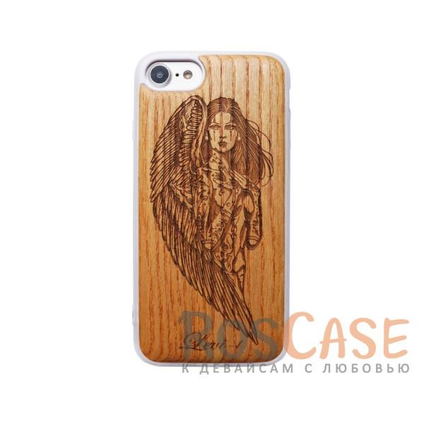 """Изображение Ангел Buddy   Чехол с деревянной вставкой ручной работы для Apple iPhone 7 / 8 (4.7"""")"""