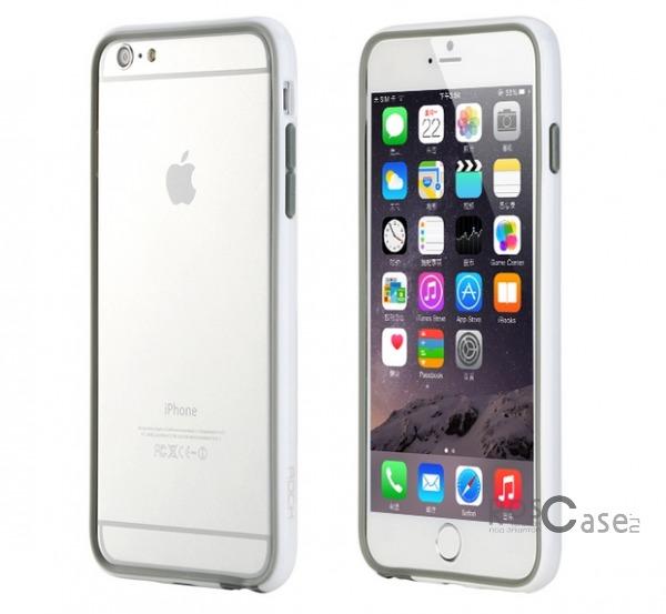 Бампер ROCK Duplex Slim Guard для Apple iPhone 6/6s plus (5.5) (Белый / White)Описание:производитель  - &amp;nbsp;Rock;создан специально для Apple iPhone 6/6s plus (5.5);материал - поликарбонат, термополиуретан;защищает боковые части аппарата.Особенности:ультратонкий, всего 2 мм;представлен в широком цветовом диапазоне;простая установка;обладает высоким уровнем устойчивости к внешним воздействиям.<br><br>Тип: Чехол<br>Бренд: ROCK<br>Материал: Натуральная кожа