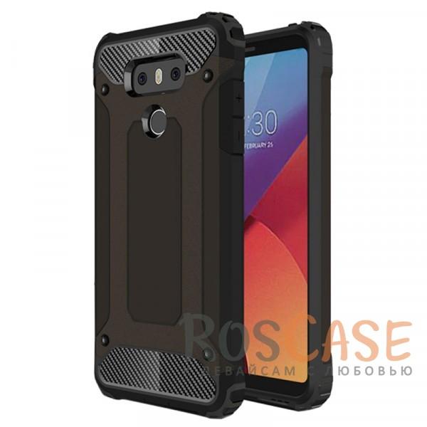 Противоударный двухкомпонентный чехол с дополнительной защитой углов для LG G6 / G6 Plus H870 / H870DS (Черный)Описание:ударопрочный чехол;спроектирован специально для LG G6 / G6 Plus H870 / H870DS;защищает заднюю панель гаджета и боковые грани;приподнятые бортики защищают экран от царапин;конструкция из двух материалов - термополиуретана и поликарбоната;предусмотрены все необходимые вырезы;не скользит в руках;формат - накладка.<br><br>Тип: Чехол<br>Бренд: Epik<br>Материал: TPU