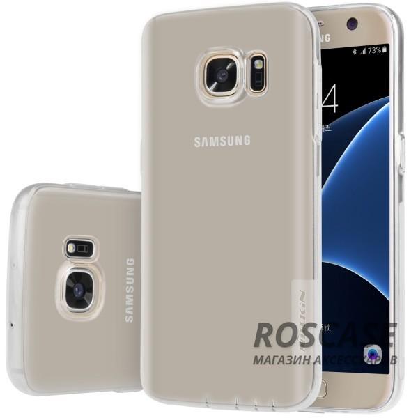 TPU чехол Nillkin Nature Series для Samsung G930F Galaxy S7 (Бесцветный (прозрачный))Описание:производитель  -  бренд&amp;nbsp;Nillkin;совместим с Samsung G930F Galaxy S7;материал  -  термополиуретан;тип  -  накладка.&amp;nbsp;Особенности:в наличии все вырезы;не скользит в руках;тонкий дизайн;защита от ударов и царапин;прозрачный.<br><br>Тип: Чехол<br>Бренд: Nillkin<br>Материал: TPU