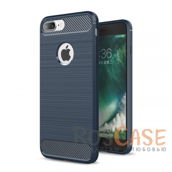 """Фото Темно-синий Ударопрочный матовый чехол c защитой от перегрева для Apple iPhone 7 plus / 8 plus (5.5"""")"""