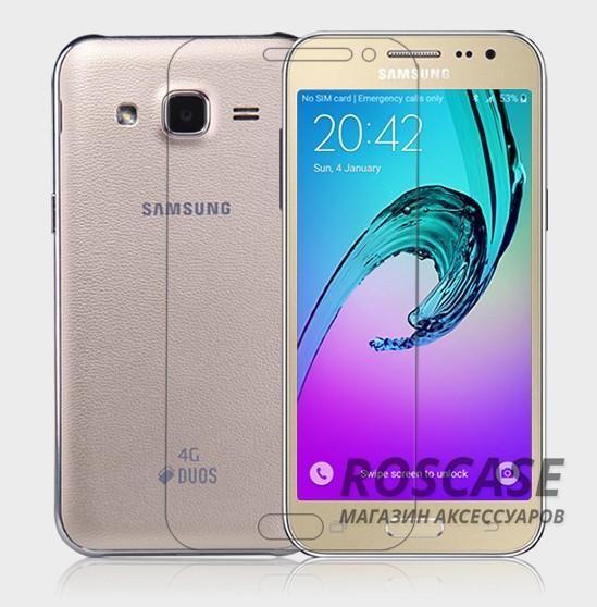 Защитная пленка Nillkin Crystal для Samsung J200H Galaxy J2 Duos (Анти-отпечатки)Описание:производство компании Nillkin;разработан специально для Samsung J200H Galaxy J2 Duos;материал: полимер;форма: пленка на экран.Особенности:ультратонкая;специальное покрытие поверхности;антибликовое и олеофобное покрытие;легко устанавливается;легко очищается;плотно прилегает к экрану.<br><br>Тип: Защитная пленка<br>Бренд: Nillkin