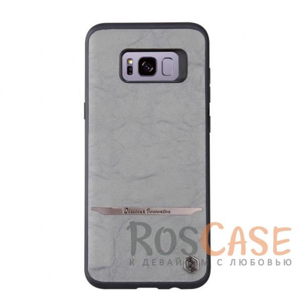 Стильный защитный чехол-накладка с покрытием из искусственной кожи и металлической вставкой для Samsung G955 Galaxy S8 Plus (Черный / Серый)Описание:бренд -&amp;nbsp;NIllkin;материалы - термополиуретан, поликарбонат, искусственная кожа;разработан для Samsung G955 Galaxy S8 Plus;в наличии все необходимые вырезы;защита от ударов и царапин;не скользит в руках;внешняя отделка из искусственной кожи;приподнятые бортики для защиты камеры.<br><br>Тип: Чехол<br>Бренд: Nillkin<br>Материал: TPU