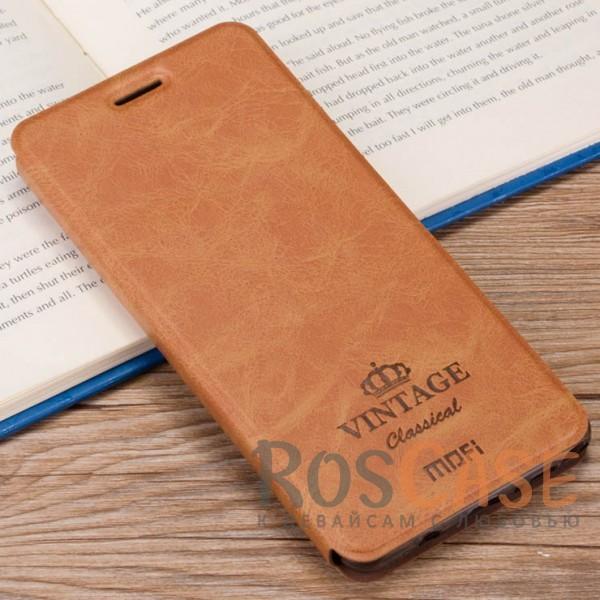Винтажный кожаный чехол-книжка MOFI Vintage с функцией автоматического выключения дисплея Smart sleep для Xiaomi Redmi Note 4 (MTK) (Коричневый)Описание:компания-производитель: Mofi;совместимость: Xiaomi Redmi Note 4 (MTK);материалы: искусственная кожа, термополиуретан;функция подставки;функция Smart-sleep;отделение для карточек или купюр;формат: чехол-книжка;винтажный стиль.<br><br>Тип: Чехол<br>Бренд: Mofi<br>Материал: Искусственная кожа