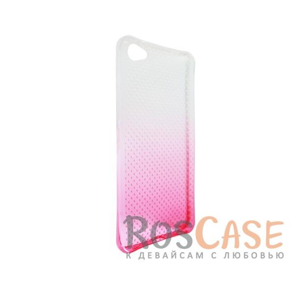 Изображение Розовый Гибкий чехол для Meizu U20 из прозрачного силикона с градиентным цветным напылением