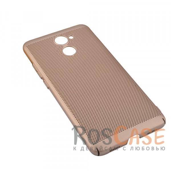 Пластиковый перфорированный чехол-накладка MOFI Air Series с защитой от перегрева для Huawei Y7 Prime (Золотой)Описание:бренд - Mofi;материал - пластик;совместимость - Huawei Y7 Prime;перфорированная поверхность;защита от перегрева;предусмотрены все функциональные вырезы;не скользит в руках;формат - накладка.<br><br>Тип: Чехол<br>Бренд: Mofi<br>Материал: Пластик