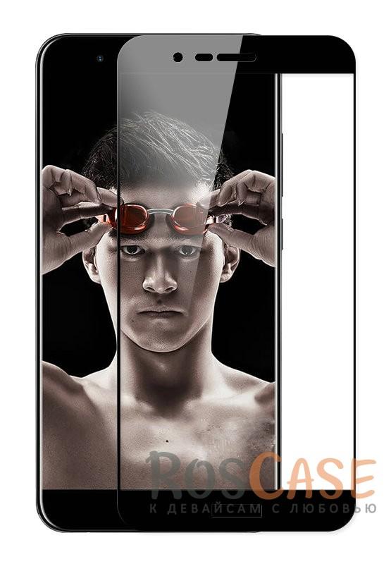 Тонкое олеофобное защитное стекло Mocolo с цветной рамкой на весь экран для Huawei Honor 8 Pro / Honor V9 (Черный)<br><br>Тип: Защитное стекло<br>Бренд: Mocolo