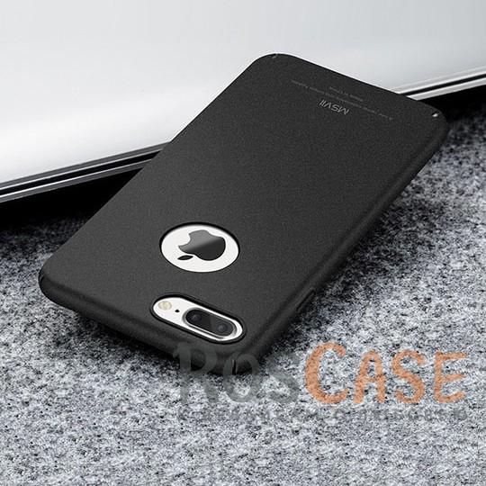Пластиковый чехол Msvii Quicksand series для Apple iPhone 7 plus (5.5) (Черный)Описание:производитель - Msvii;совместим с Apple iPhone 7 plus (5.5);материал  -  пластик;тип  -  накладка.&amp;nbsp;Особенности:матовая поверхность;имеет все разъемы;тонкий дизайн не увеличивает габариты;накладка не скользит;защищает от ударов и царапин;износостойкая.<br><br>Тип: Чехол<br>Бренд: Epik<br>Материал: Пластик
