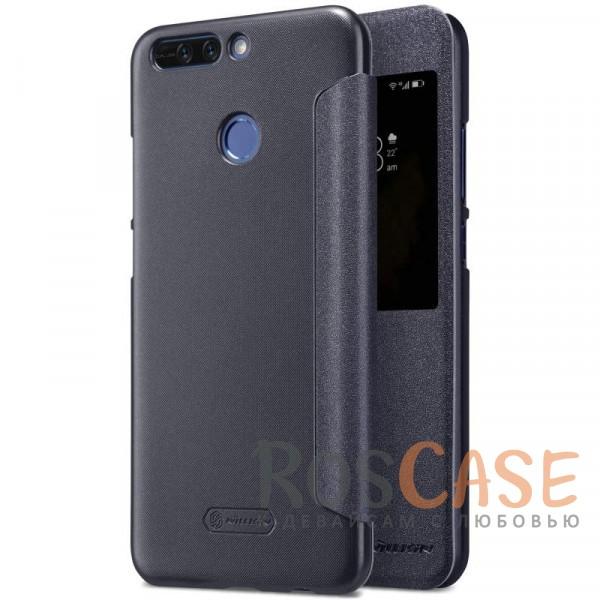 Защитный чехол-книжка Nillkin Sparkle с интерактивным окошком для входящих вызовов и функцией сна (Sleep mode) для Huawei Honor 8 Pro / Honor V9 (Черный)Описание:бренд&amp;nbsp;Nillkin;спроектирован для Huawei Honor 8 Pro / Honor V9;материалы: поликарбонат, искусственная кожа;блестящая поверхность;не скользит в руках;предусмотрены все необходимые вырезы;защита со всех сторон;функция Sleep mode;окошко в обложке;тип: чехол-книжка.&amp;nbsp;<br><br>Тип: Чехол<br>Бренд: Nillkin<br>Материал: Искусственная кожа
