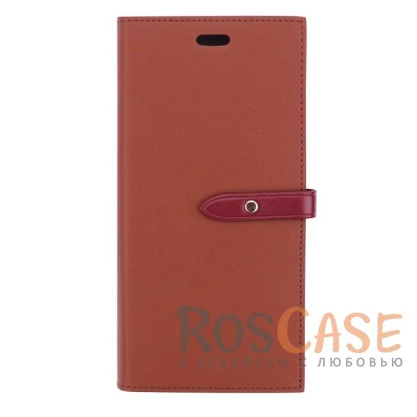 Прошитый кожаный чехол-книжка на магнитной застежке Mercury Romance Diary с функцией подставки и отделением под карты для Samsung G955 Galaxy S8 Plus (Коричневый / Винный)Описание:производитель -&amp;nbsp;Mercury;разработан для Samsung G955 Galaxy S8 Plus;материалы - термополиуретан, искусственная кожа;формат - чехол-книжка;магнитная застежка;отделения для визиток и пластиковых карт;стильный дизайн;функция подставки.<br><br>Тип: Чехол<br>Бренд: Mercury<br>Материал: Искусственная кожа