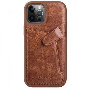 Nillkin Aoge Leather | Чехол с визитницей из Premium экокожи  для iPhone 12 Pro Max
