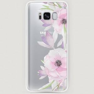 RosCase | Силиконовый чехол Нежные анемоны на Samsung G955 Galaxy S8 Plus