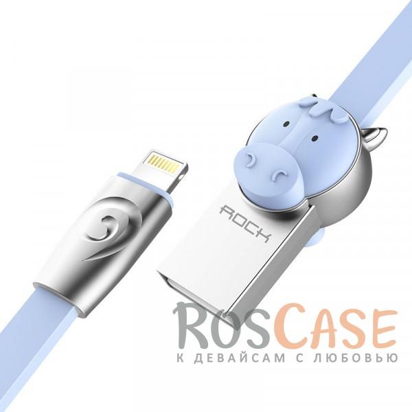 Кабель ROCK Lightning (Chinese Zodiac) для Apple iPhone 5/5s/5c/SE/6/6 Plus/6s/6s Plus /7/7 Plus 1m (Horse-Blue)Описание:бренд&amp;nbsp;Rock;материал - TPE (термоэластопласт);совместимость: Apple iPhone 5/5s/5c/SE/6/6 Plus/6s/6s Plus /7/7 Plus:оригинальный дизайн;длина&amp;nbsp;кабеля - 1 м;ток - 5V/2.4 A Max;разъемы&amp;nbsp; - &amp;nbsp;Lightning USB,&amp;nbsp;USB;высокая скорость передачи данных;совмещает три в одном: синхронизация данных, передача данных, зарядка;плоский.<br><br>Тип: USB кабель/адаптер<br>Бренд: ROCK