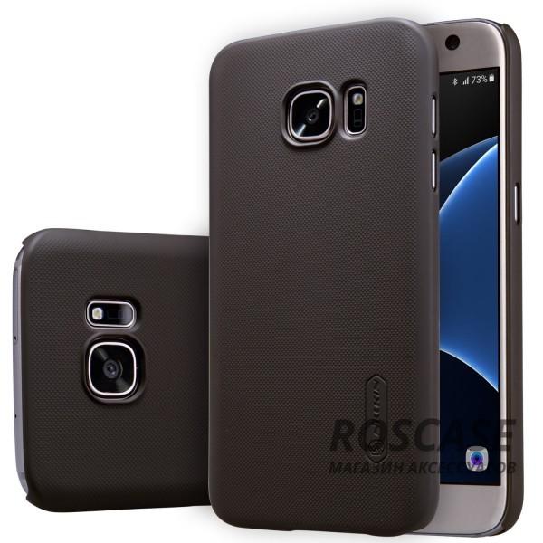 Чехол Nillkin Matte для Samsung G930F Galaxy S7 (+ пленка) (Коричневый)Описание:производитель -&amp;nbsp;Nillkin;материал - поликарбонат;совместим с Samsung G930F Galaxy S7;тип - накладка.&amp;nbsp;Особенности:матовый;прочный;тонкий дизайн;не скользит в руках;не выцветает;пленка в комплекте.<br><br>Тип: Чехол<br>Бренд: Nillkin<br>Материал: Поликарбонат