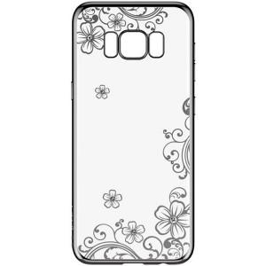 Devia Crystal Joyous | Силиконовый чехол для Samsung G950 Galaxy S8 со стразами и цветочным узором