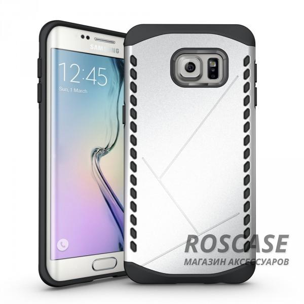 Противоударный защитный чехол Armor для Samsung Galaxy S6 Edge с усиленным прорезиненным бампером (Серебряный)Описание:идеально совместим с&amp;nbsp;Samsung G925F Galaxy S6 Edge;материалы: термополиуретан, поликарбонат;формат: накладка.Особенности:защита от ударов;двойной корпус;не скользит в руках;усиленный бампер;присутствуют все необходимые вырезы.<br><br>Тип: Чехол<br>Бренд: Epik<br>Материал: TPU