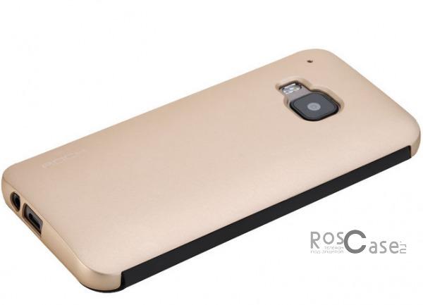 Чехол (книжка) Rock DR.V Series для HTC One / M9 (Золотой / Gold)Описание:производитель  -  компания&amp;nbsp;Rock;разработан для HTC One / M9;материалы  -  поликарбонат, полиуретан;форма  -  чехол-книжка.&amp;nbsp;Особенности:функция Smart window;декоративная фактура;имеются все функциональные разъемы;на нем не видны &amp;laquo;пальчики&amp;raquo;;защита от ударов и царапин.<br><br>Тип: Чехол<br>Бренд: ROCK<br>Материал: Натуральная кожа