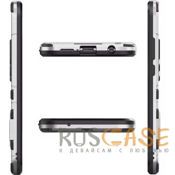 Transformer | Противоударный чехол для Huawei P20 Lite с мощной защитой корпуса (Серебряный / Satin Silver), , Чехлы