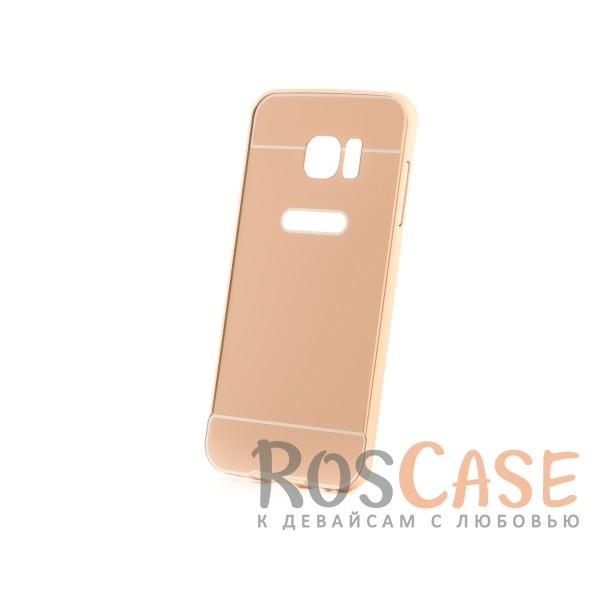 Металлический бампер с пластиковой вставкой для Samsung G935F Galaxy S7 Edge (Золотой)Описание:сделан для Samsung G935F Galaxy S7 Edge;материалы: металл, пластик;тип чехла: бампер со вставкой.Особенности:металлическая окантовка;эргономичный дизайн;защита от механических повреждений;вставка из пластика;предусмотрены все функциональные вырезы;прочно фиксируется.<br><br>Тип: Чехол<br>Бренд: Epik<br>Материал: Металл