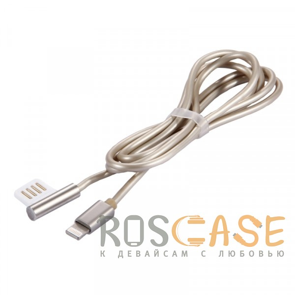 Изображение Золотой Remax Emperor | Дата кабель USB to Lightning с угловым штекером USB (100 см)